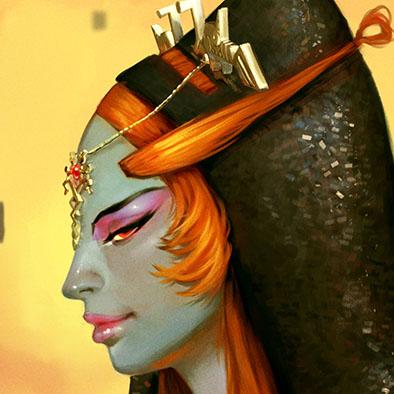 Fan Art digital illustration of a videogame character