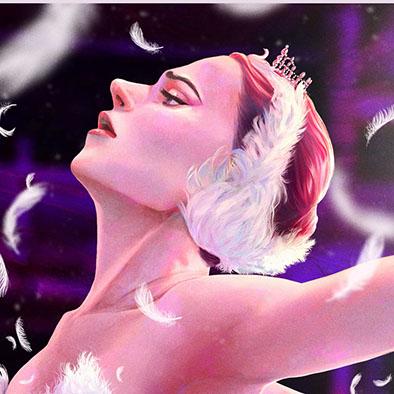 Illustration of a ballet dancer made digitally.